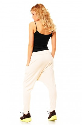 Pantalon fashion alb
