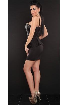 Rochie Vanila black latex