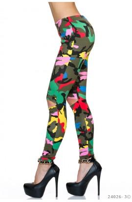 Colanti Colorati Camuflaj Model Cut-Out
