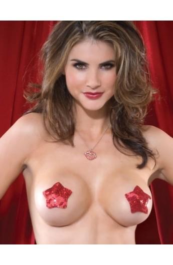 Nipple covers rosii model stea
