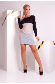 Rochie Mini Casual Three-Tone