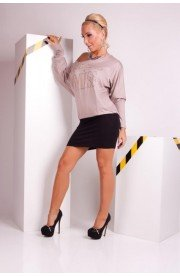 Rochie Mini Casual Two-Tone