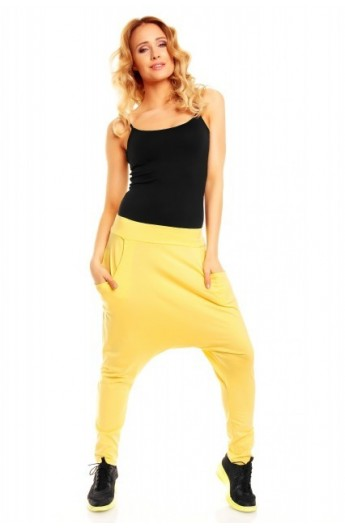 Pantalon fashion galben