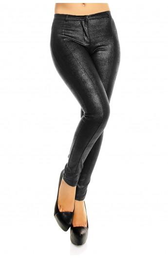 Pantaloni Skinny Dama Aspect Metalic