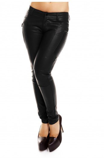 Pantaloni Dama Piele Ecologica Moto