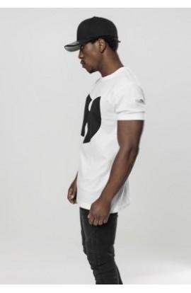 Tricou alb cu logo wu-wear