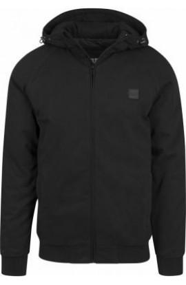 Jacheta din bumbac cu fermoar si gluga