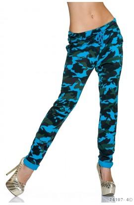 Pantaloni Jogger Casual cu Imprimeu Camuflaj