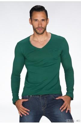 Bluza Uni verde cu Maneca Lunga