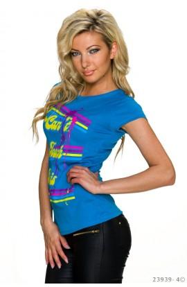 Tricou Dama cu Imprimeu Neon