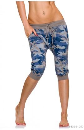 Pantaloni Lejeri cu Imprimeu Camuflaj