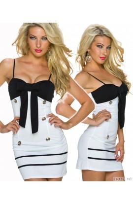 Rochie Sexy alb negru Model Navy