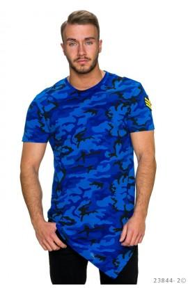 Tricou Asimetric cu Imprimeu Army pentru Barbati