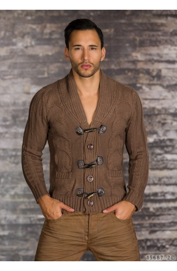 Gros Cu pulover slim fit gros cu nasturi pentru barbati - larisfashion
