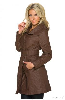 Jacheta Maro Tip Trench din piele ecologica pentru Femei