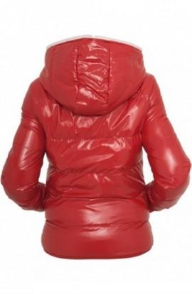 Geci fashion lucioase de iarna femei rosu-alb L