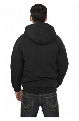 Geaca iarna casual negru-turcoaz-gri L