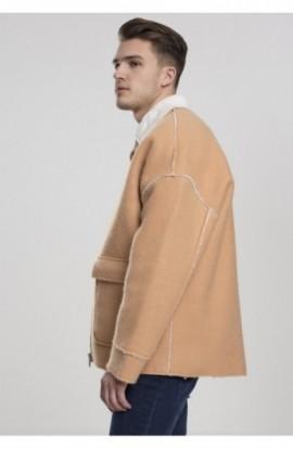 Bonded Oversized Sherpa Jacket camel L