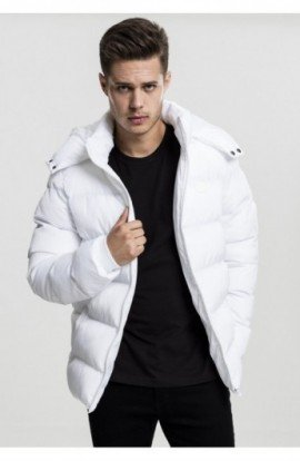 Hooded Puffer Jacket alb L