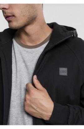 Hooded Cotton Zip Jacket negru L