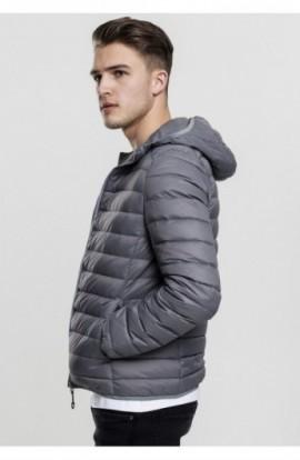 Basic Hooded Down Jacket gri inchis L