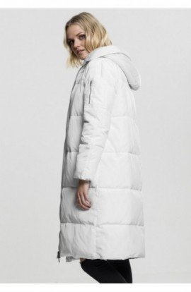 Ladies Oversized Hooded Puffer Coat alb-alb murdar S