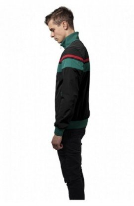 Nylon 3-Tone Jacket negru-verde-rosu S