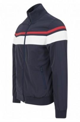 Nylon 3-Tone Jacket bleumarin-alb-rosu S