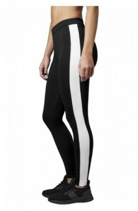 Ladies Retro Leggings negru-alb L