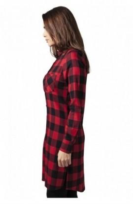Rochii tip camasa in carouri negru-rosu XL