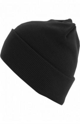 Beanie Basic Flap Long Version negru