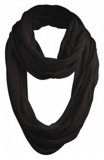 Wrinkle Loop Scarf negru