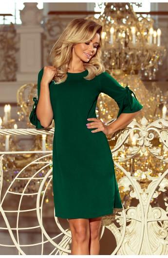 Rochie trapezoidala pe verde