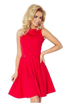 Rochie rosie din material lacosta, XL